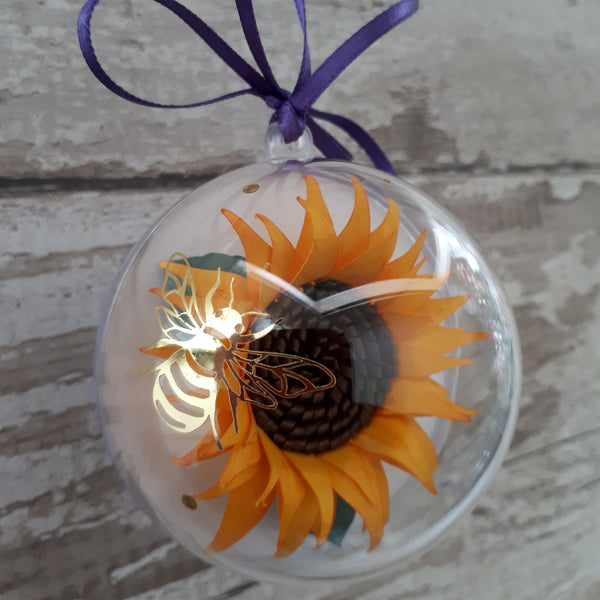 Trio of Sunflowers - A gorgeous set of Dawn, Light and Hope quote bubbles