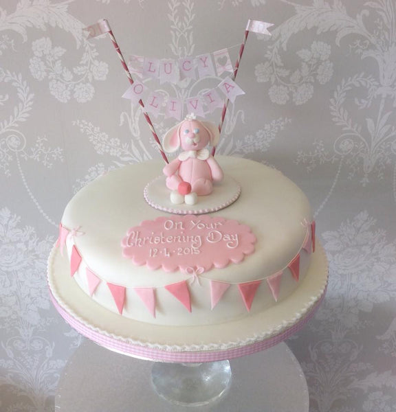 Christening cake decoration