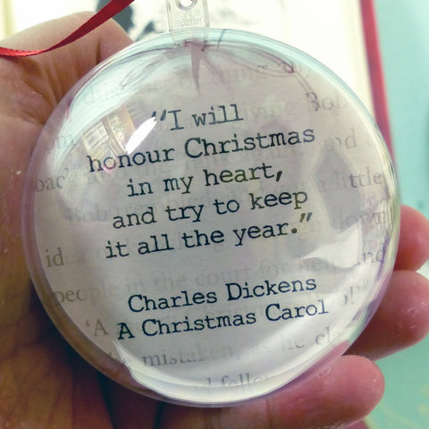Honour Christmas bauble Quote