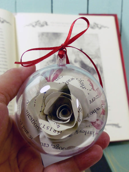Paper flower bauble