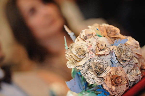 Lord of the Rings paper wedding Bouquet Tolkein