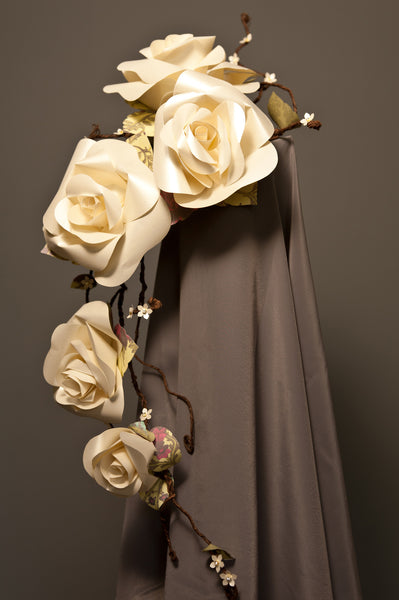 Ivory paper rose bouquet