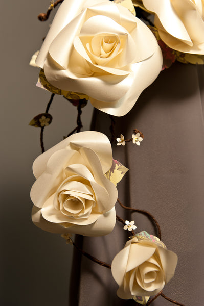 Paper flower bouquet pearl roses