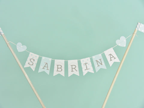 Personalised Christening cake bunting
