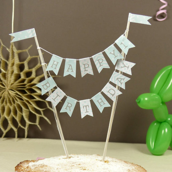 Personalise babys 1st birthday mint bunting