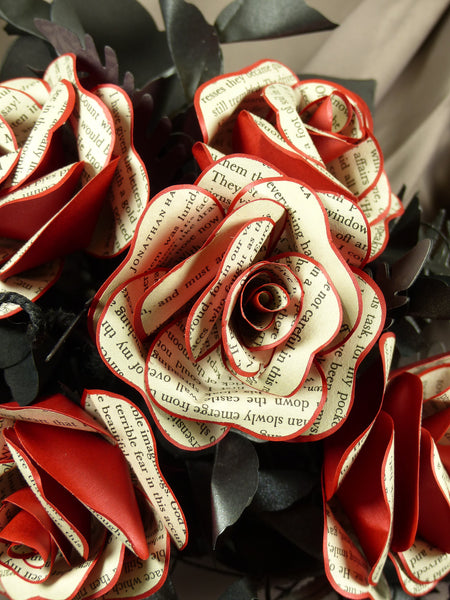 Dracula Paper Rose Wedding flowers