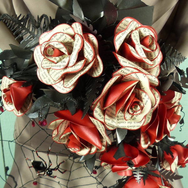 Black & red wedding flowers