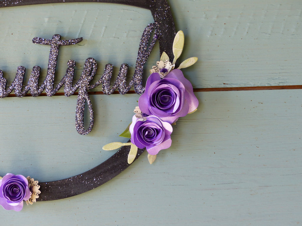 You are beautiful hoop postive words wall hanging paper flowers you are beautiful hoop postive words wall hanging paper flowers mightylinksfo