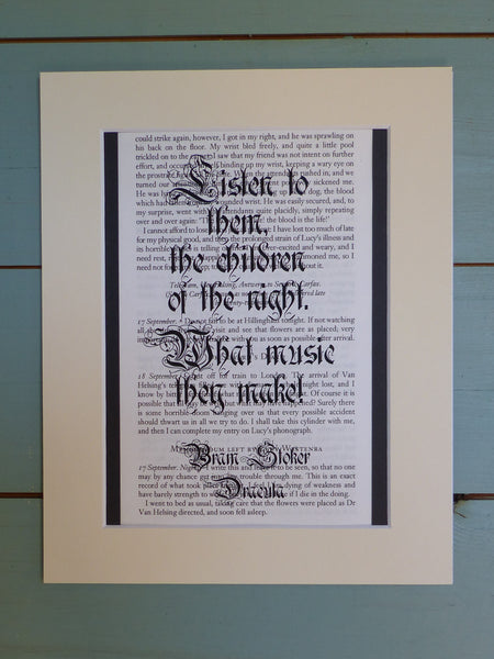 Children of the night Bram stoker quote print