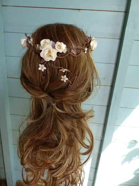Magical woodland wedding hair accessories
