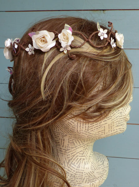 rustic wedding circlet of flowers
