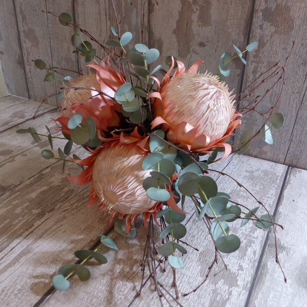 King protea wedding flowers