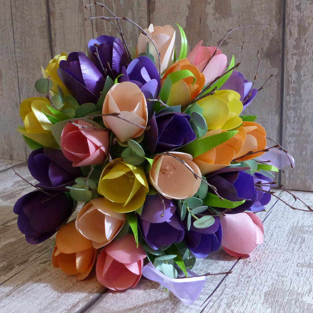Tulip paper wedding flowers