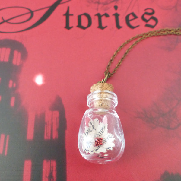 Book daisy in bulb bottle Dracula