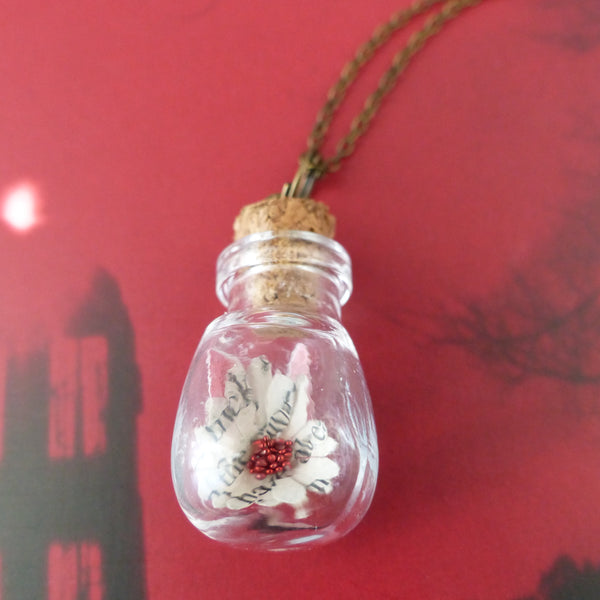Dracula book daisy bulb bottle daisy