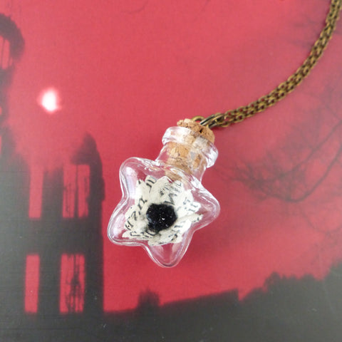 Bram stokers Dracula book daisy star necklace