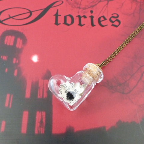 Dracula book daisy quirky heart bottle daisy