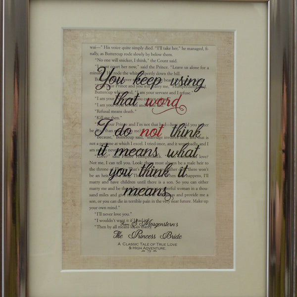 book print art princess bride