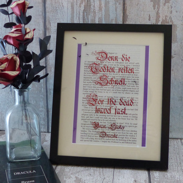 Bram Stoker quote art print