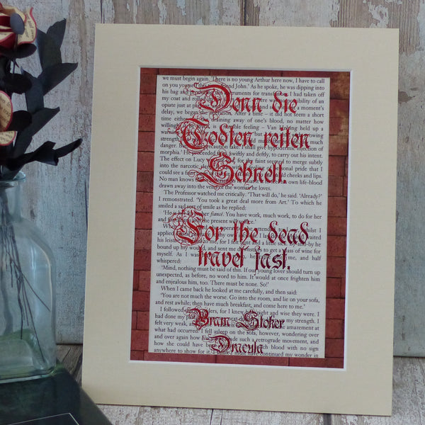 Bram Stoker for the dead travel fast quote