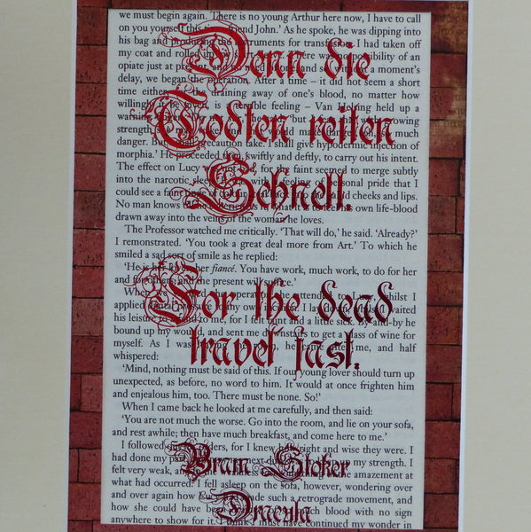 Dracula quote red frame