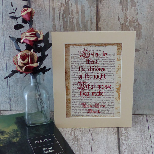 Dracula the children of the night quote are