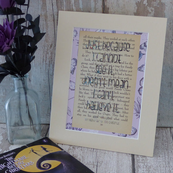 Nightmare before Chrismas bookpage print