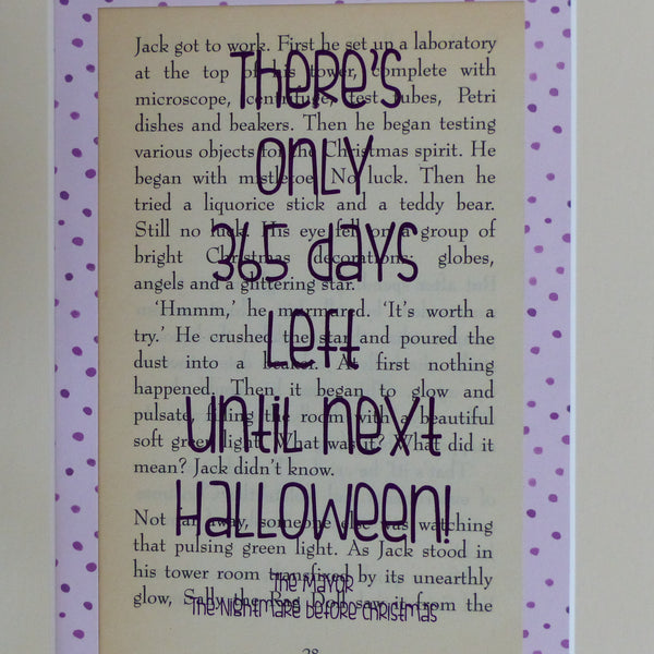 Halloween countdown art print