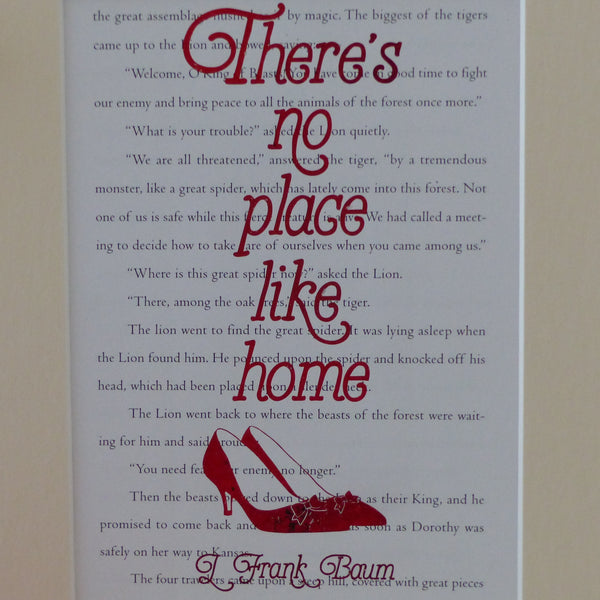 Wizard of Oz There's no place like home ruby slippers