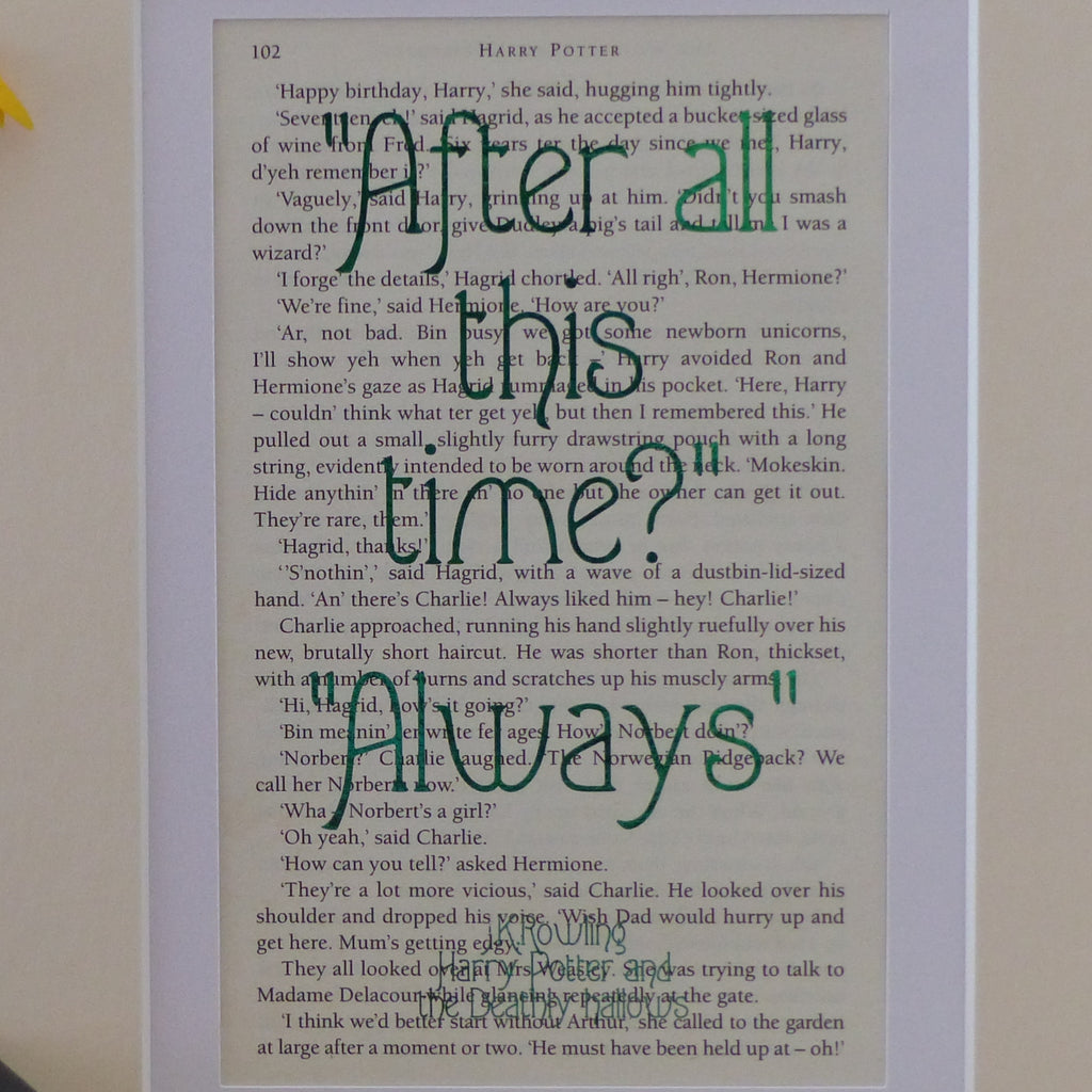 After all this time? Always book art