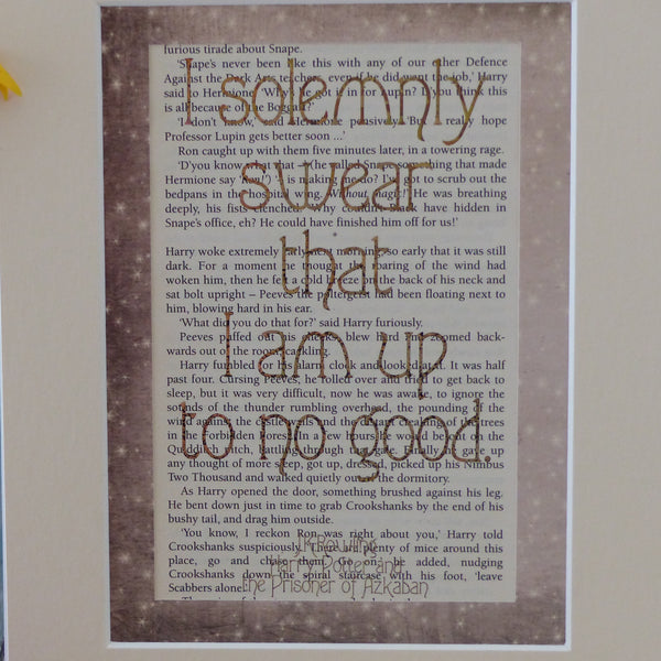 Harry Potter Solemnly swear quote book page print