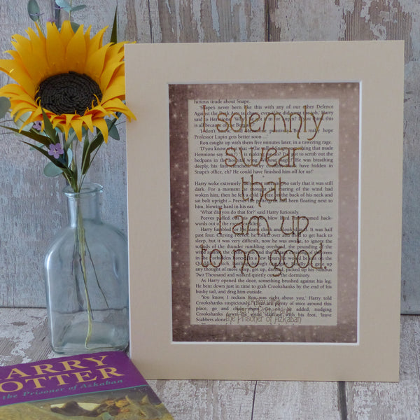 Harry Potter Solemnly Swear book page art print