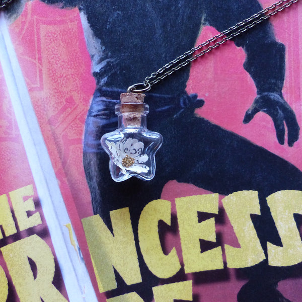 The Princess Bride daisy in star bottle necklace