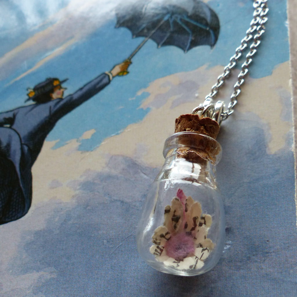 Mary Poppins practically perfect daisy in bulb bottle