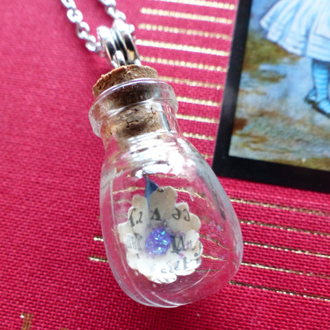 Alice in Wonderland bulb necklace