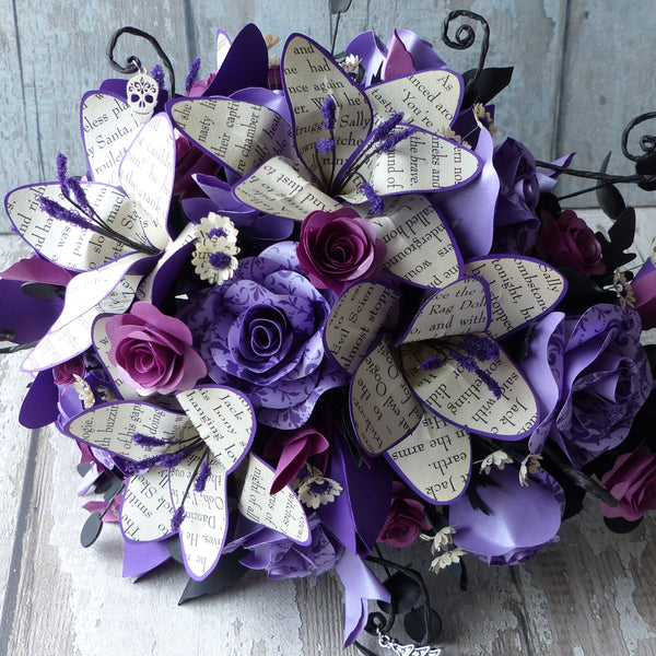 The Nightmare before Christmas book paper cascade bouquet