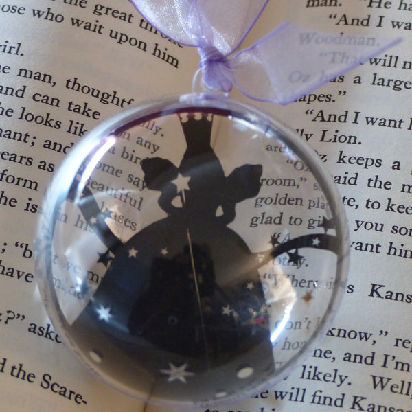 Glinda the good Wizard of Oz silhouette bauble