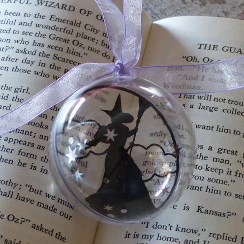 Wicked witch of the west wizard of Oz silhouette bauble