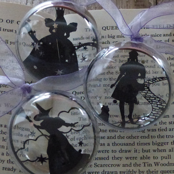 Dorothy and Toto wizard of Oz silhouette bauble