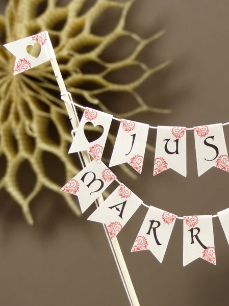 Wedding cake bunting flags