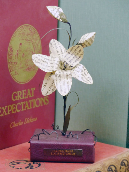 Paper lily book flower