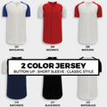 (O2) AK 2 COLOR BASEBALL JERSEY