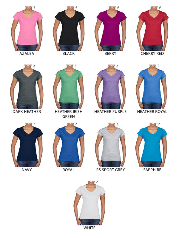 (A6) LADIES V-NECK TEE