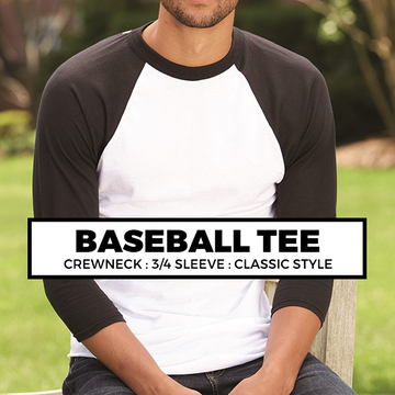 (D3) Baseball Tee : 3/4 Sleeve*