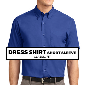 (C7) DRESS SHIRT SHORT SLEEVE