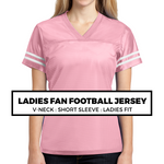 (E6) LADIES FAN FOOTBALL JERSEY