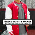 (I4) FLEECE VARSITY JACKET