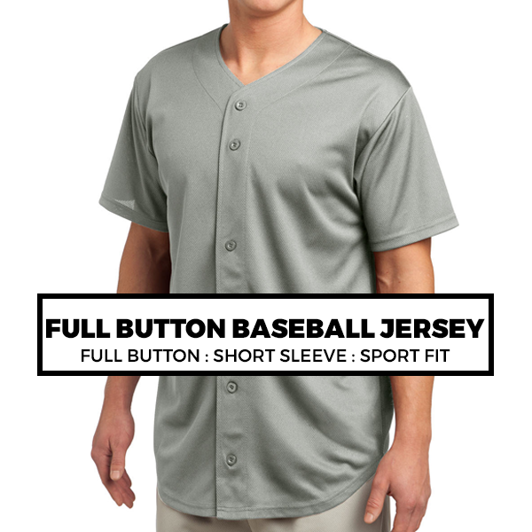 (F1) FULL-BUTTON BASEBALL JERSEY