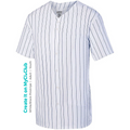Pinstripe Baseball Button Down Jersey