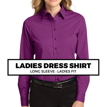 (C9) LADIES DRESS SHIRT LONG SLEEVE